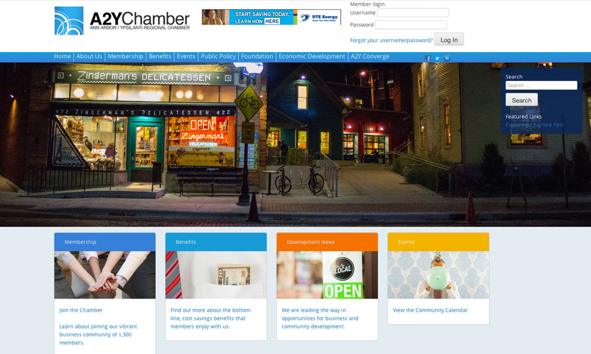 A2Y Chamber Homepage