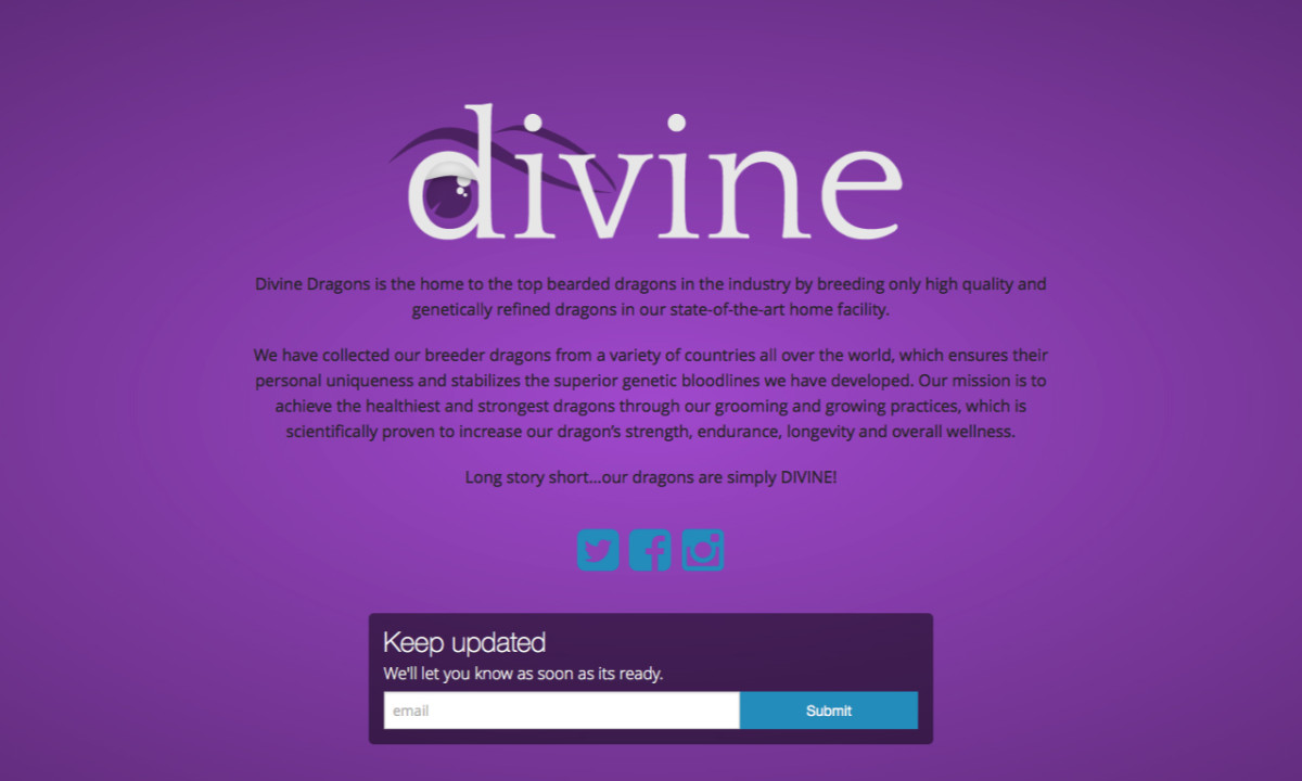 Divine Dragons Homepage