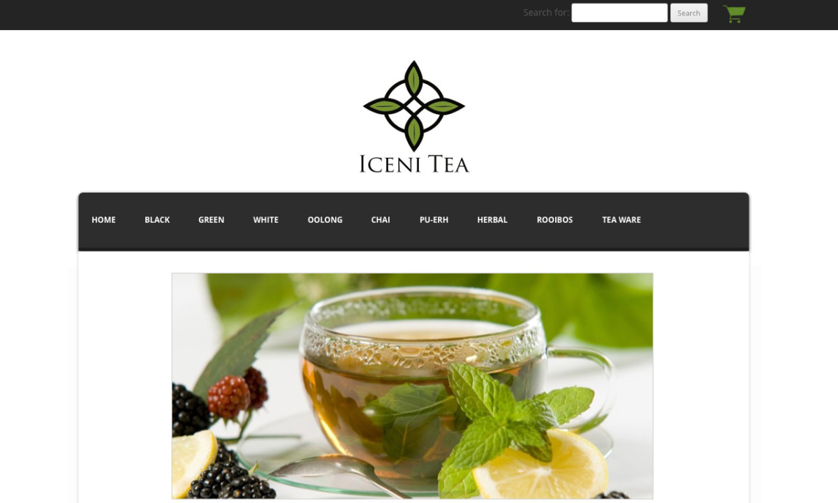 Iceni Tea Homepage